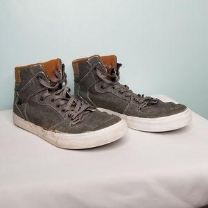 SUPRA gray high top sneakers
